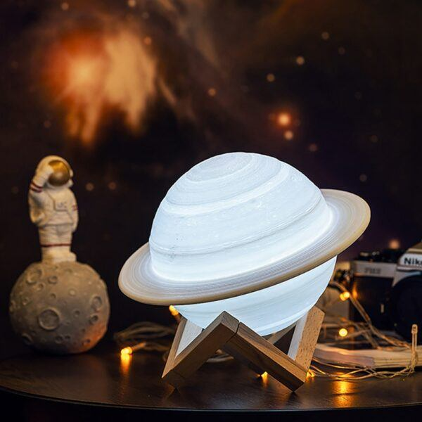 3D LED Saturn Lamp with Remote Controller for Kids